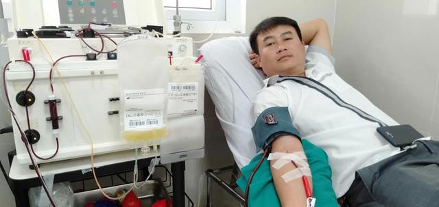 Hầu như chương trình hiến máu nào tại địa phương cũng có mặt của anh Mạnh.
