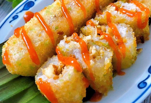Món ngon dễ làm: Xôi cuộn gà xé - Ảnh 3.