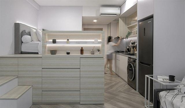 Căn hộ 27m² chứa đựng cả một thế giới bên trong nhờ khéo thiết kế không gian lưu trữ thông minh - Ảnh 1.