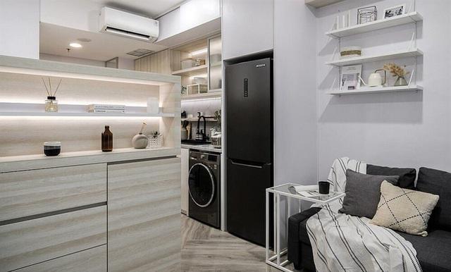 Căn hộ 27m² chứa đựng cả một thế giới bên trong nhờ khéo thiết kế không gian lưu trữ thông minh - Ảnh 3.