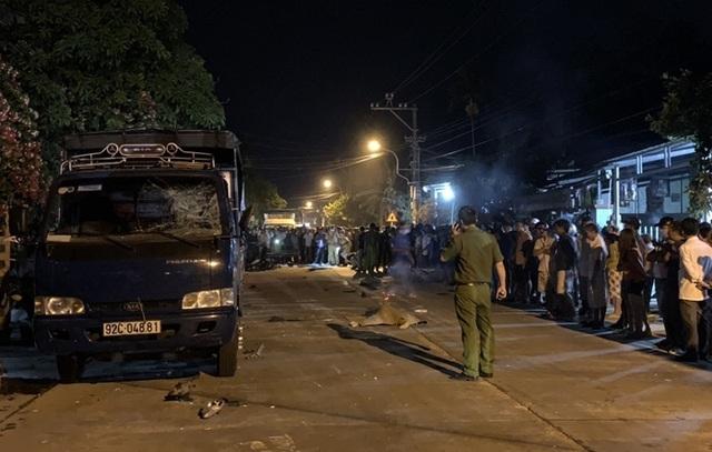 Tạm giữ hình sự tài xế tông hàng loạt xe máy, 2 người chết ở Quảng Nam - Ảnh 3.
