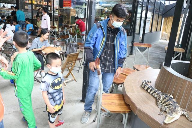Trẻ em Sài Gòn háo hức đến quán cà phê độc nhất vô nhị chơi đùa với thú cưng tiền tỷ - Ảnh 5.