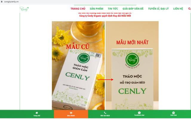 Bị thu hồi giấy phép, công ty giải thể, Thảo mộc giảm béo Cenly vẫn ngang nhiên quảng cáo bày bán - Ảnh 1.