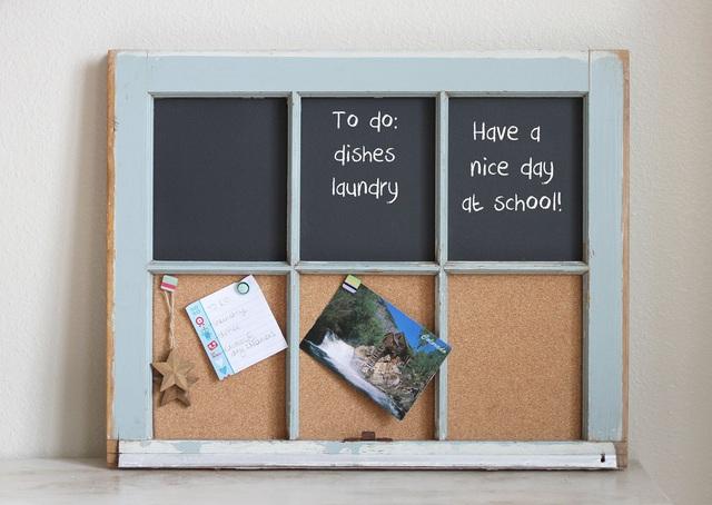 Sáng tạo với khung cửa sổ cũ để trang trí và lưu trữ chất lừ - Ảnh 3.
