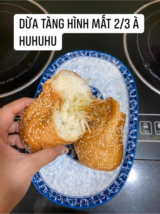 Đặt mua bánh mì siêu dừa, thành phẩm đến tay gây choáng váng: Lưa thưa vài hạt vừng, còn dừa tàng hình - Ảnh 9.