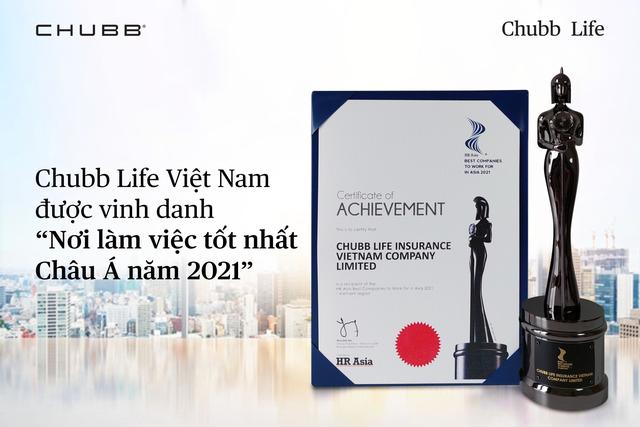 """HR Asia Magazine vinh danh Chubb Life Việt Nam là """"Nơi làm việc tốt nhất châu Á 2021"""" - Ảnh 1."""