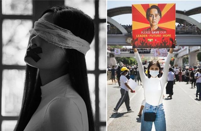 Đại diện Myanmar có hành động bất ngờ tại Miss Universe, fan lo ngại khó có cửa về nước - Ảnh 3.