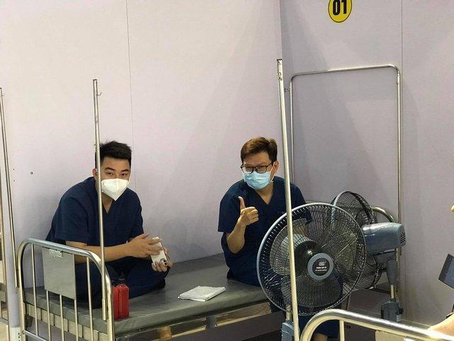 Cận cảnh bệnh viện dã chiến tại điểm nóng Bắc Giang đã hoàn thiện 99%, chuẩn bị hoạt động - Ảnh 16.