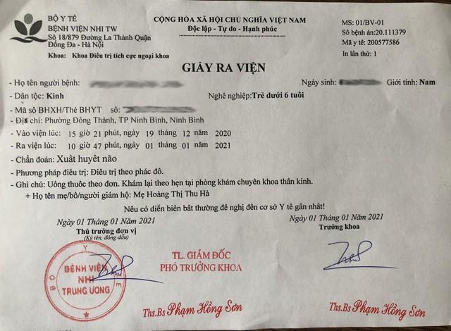 Hà Nội: Bé trai 2 tuổi phải nhập viện cấp cứu, bị xuất huyết não khi đang học tại trường mầm non thực nghiệm Việt Anh - Ảnh 2.