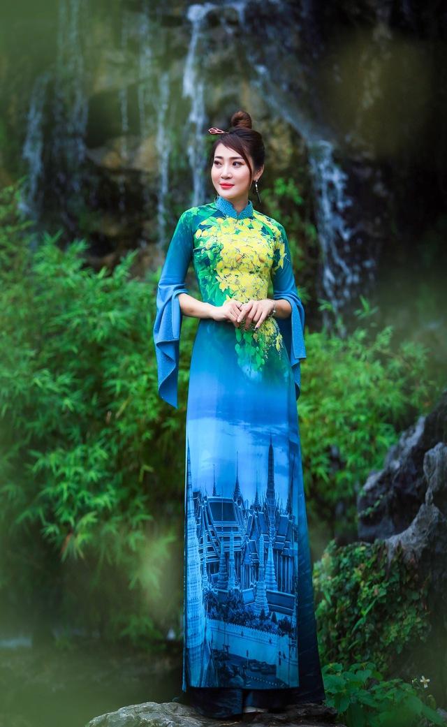 BST áo dài độc đáo về Quốc hoa ASEAN - Ảnh 12.