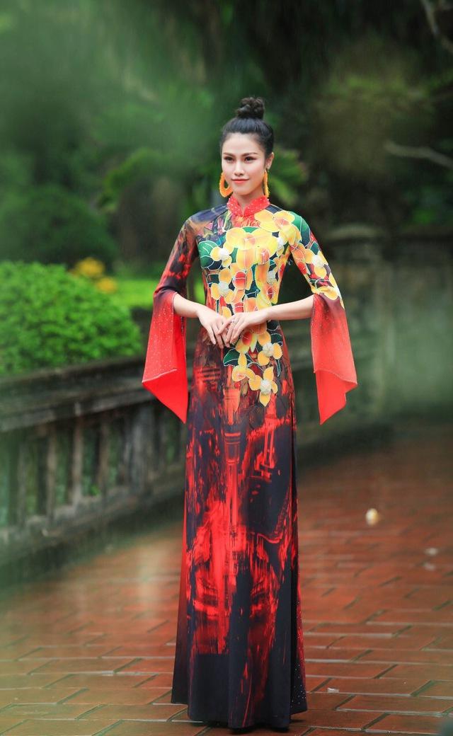 BST áo dài độc đáo về Quốc hoa ASEAN - Ảnh 7.