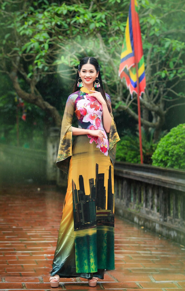 BST áo dài độc đáo về Quốc hoa ASEAN - Ảnh 5.