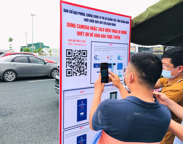 Hình ảnh ngày đầu tái lập chốt kiểm soát phòng chống dịch COVID-19 ở Quảng Ninh - Ảnh 7.