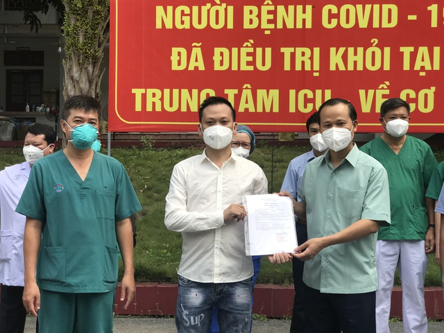 2 bệnh nhân COVID-19 nặng đầu tiên ở Bắc Giang khỏi bệnh - Ảnh 4.