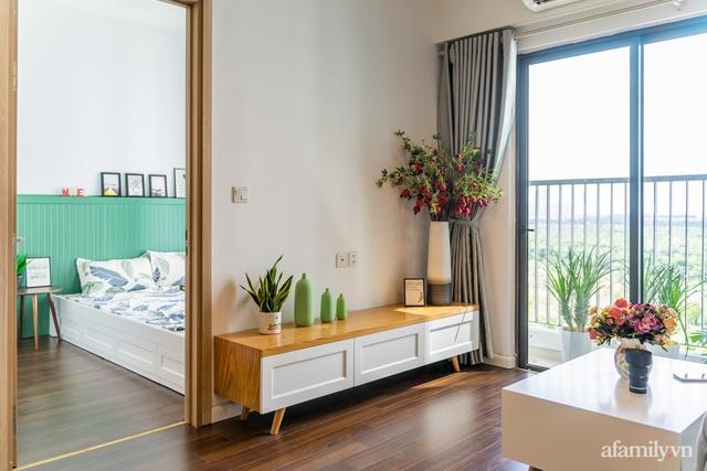 Căn hộ chỉ vỏn vẹn 69m² với điểm nhấn màu xanh thổi bay nắng nóng mùa hè ở ngoại thành Hà Nội - Ảnh 5.