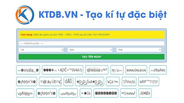Tạo kí tự đặc biệt chất ngầu tại KTDB.VN dẫn đầu mọi trào của giới trẻ - Ảnh 3.