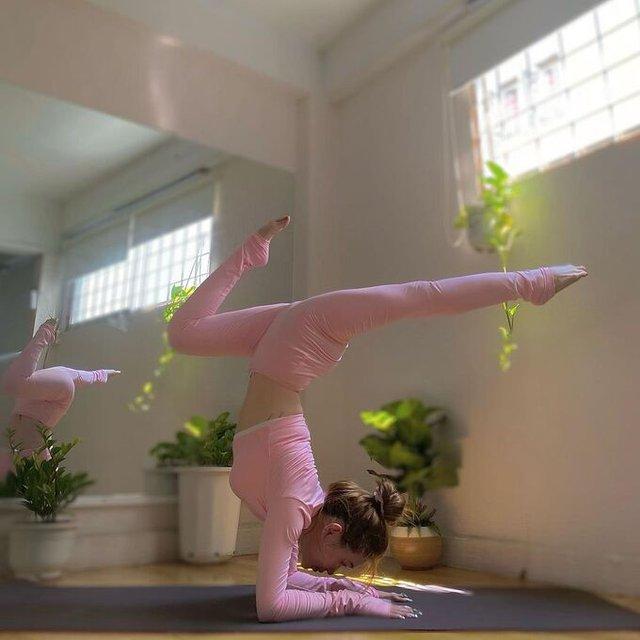 Sĩ Thanh giữ eo 57 cm nhờ ăn chay, tập yoga - Ảnh 2.