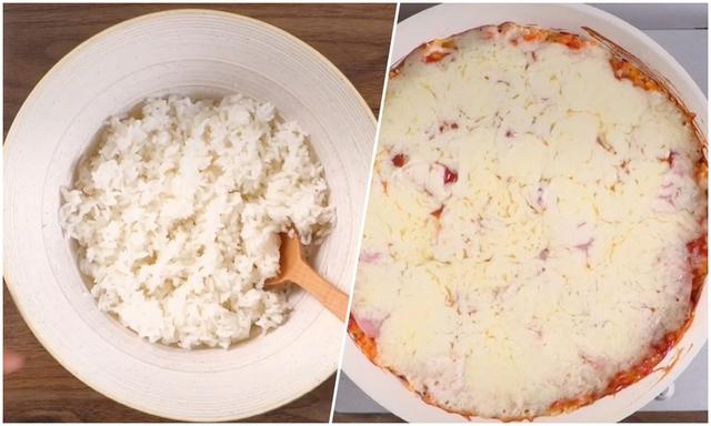 برنج سرد را به پنیر پخته تبدیل کنید - عکس 2.