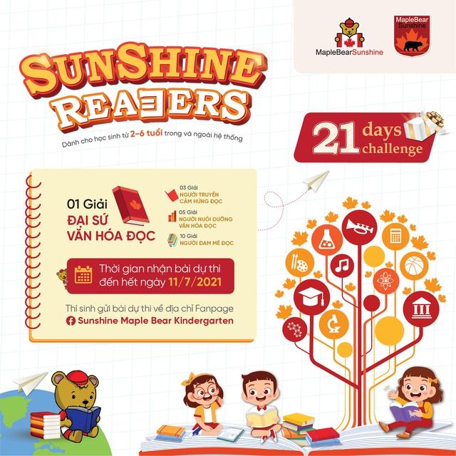 Sunshine Maple Bear xây dựng văn hóa đọc cho trẻ nhỏ với 21 ngày thử thách cùng Sunshine Readers - Ảnh 2.
