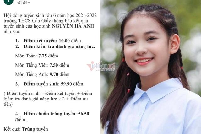 Diễn viên nhí Hương vị tình thân trúng tuyển trường top đầu ở Hà Nội - Ảnh 2.