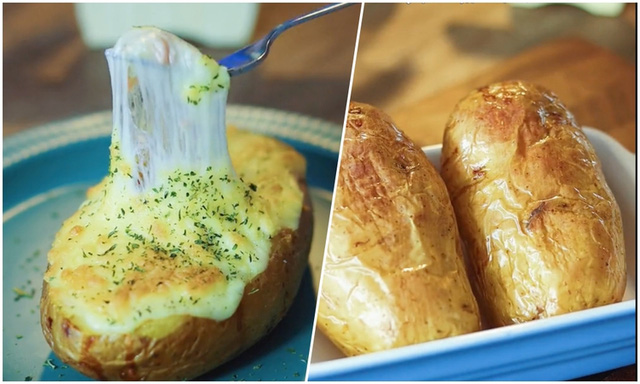 Dễ làm món khoai tây nướng phô mai béo ngậy - Ảnh 2.