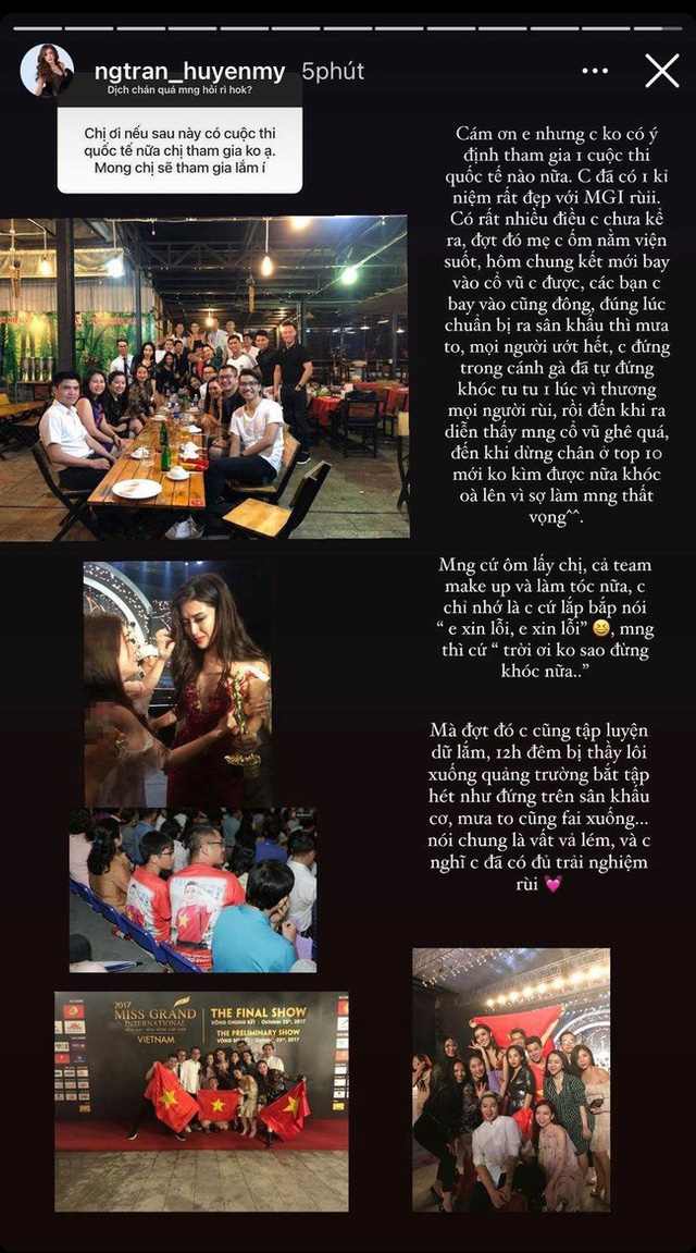 Á hậu Huyền My lần đầu tiết lộ chuyện hậu trường khiến cô bật khóc nức nở và gây tranh cãi trong chung kết Miss Grand International 2017 - Ảnh 2.