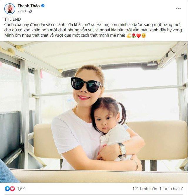 Thanh Thảo đăng ảnh ôm con gái kèm dòng trạng thái ẩn ý về chuyện kết thúc làm rộ lên nghi vấn trục trặc hôn nhân với ông xã Việt kiều - Ảnh 2.