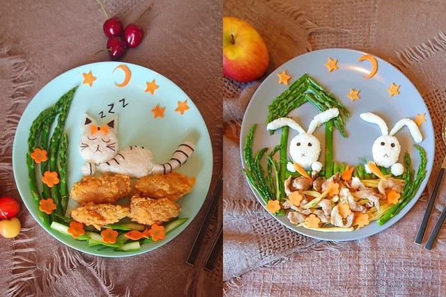 Mẹ Việt ở Ba Lan trổ tài vẽ tranh bằng thực phẩm, đẹp không nỡ ăn - Ảnh 2.
