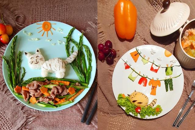 Mẹ Việt ở Ba Lan trổ tài vẽ tranh bằng thực phẩm, đẹp không nỡ ăn - Ảnh 4.