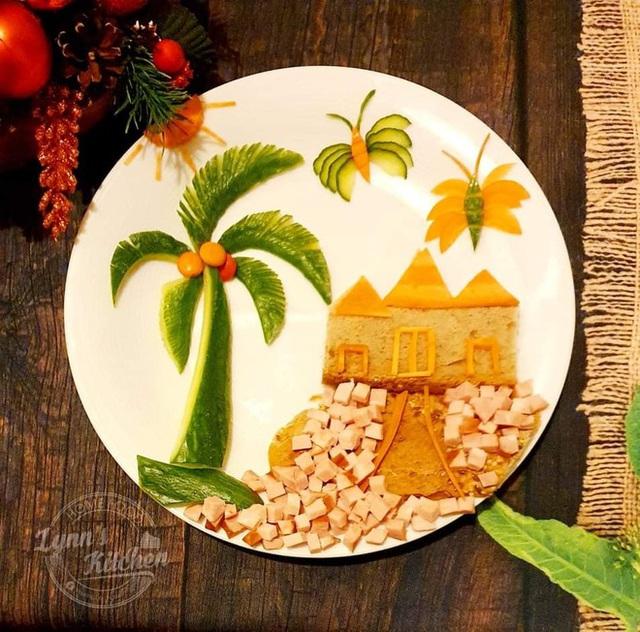 Mẹ Việt ở Ba Lan trổ tài vẽ tranh bằng thực phẩm, đẹp không nỡ ăn - Ảnh 7.