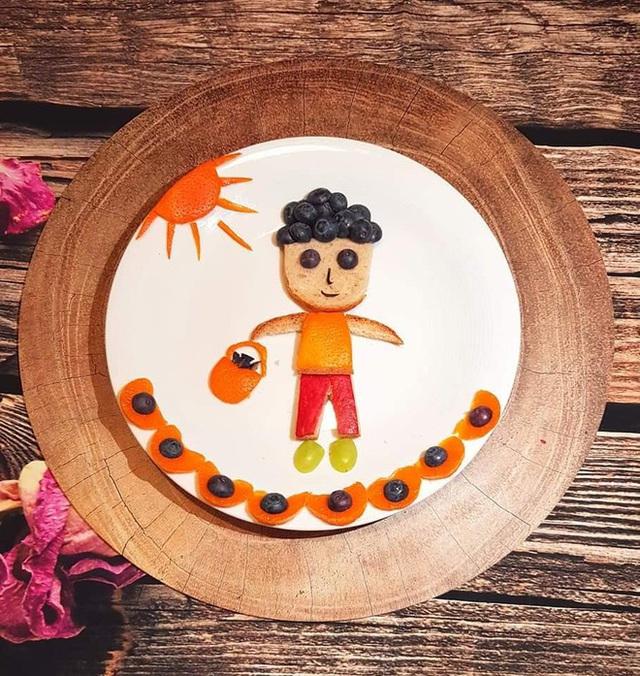 Mẹ Việt ở Ba Lan trổ tài vẽ tranh bằng thực phẩm, đẹp không nỡ ăn - Ảnh 10.