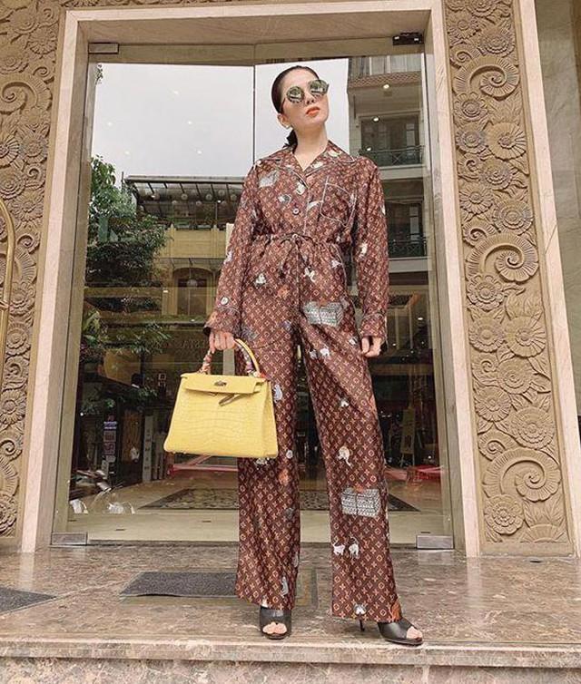 Hà Hồ, Lệ Quyên mặc đồ ngủ pyjama thôi mà nhìn giá phát hoảng - Ảnh 3.