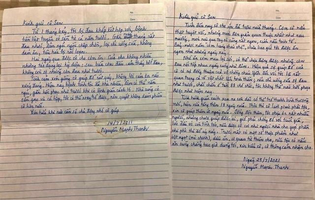 Bức thư cảm động của cụ ông gửi người hàng xóm nấu cơm cho mình - Ảnh 1.