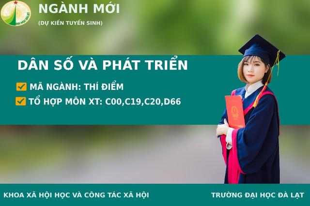 Đại học Đà Lạt tuyển sinh hệ chính quy chuyên ngành Dân số và Phát triển - Ảnh 1.