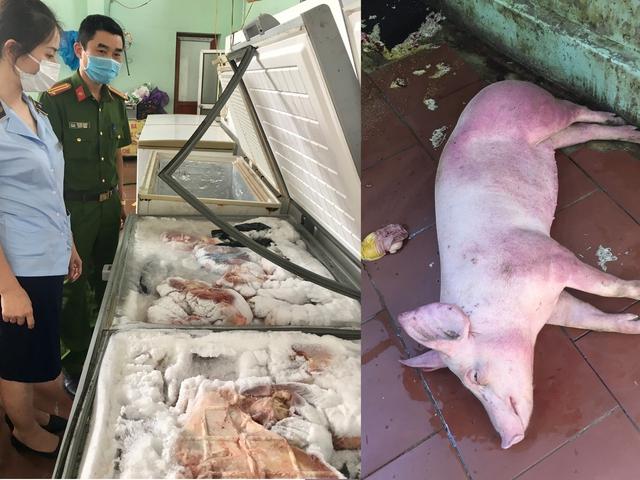 Kinh hoàng cơ sở kinh doanh chuyên tập kết thịt lợn ôi thiu, lợn bệnh để kiếm lời - Ảnh 3.