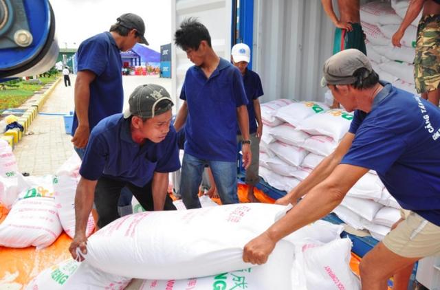 6.000 tấn gạo của Hà Nội lăn bánh đến TP Hồ Chí Minh, Bình Dương - Ảnh 2.