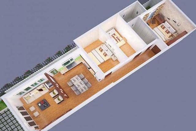 Mẫu nhà ống 1 tầng 3 phòng ngủ cho nhà đông người đang được ưa chuộng - Ảnh 7.