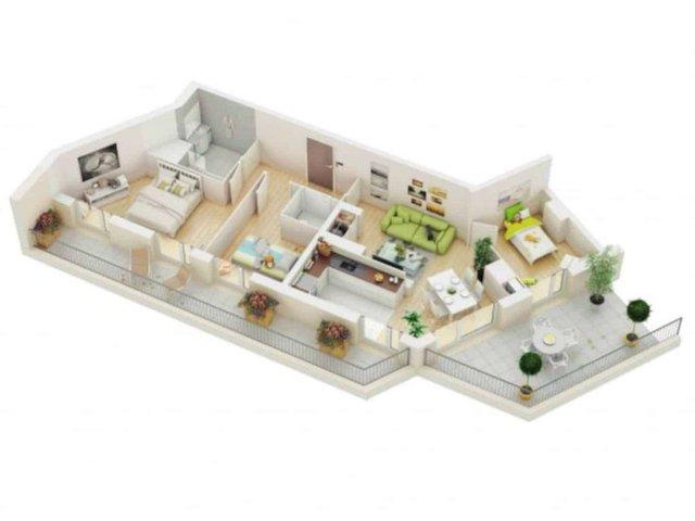 Mẫu nhà ống 1 tầng 3 phòng ngủ cho nhà đông người đang được ưa chuộng - Ảnh 8.