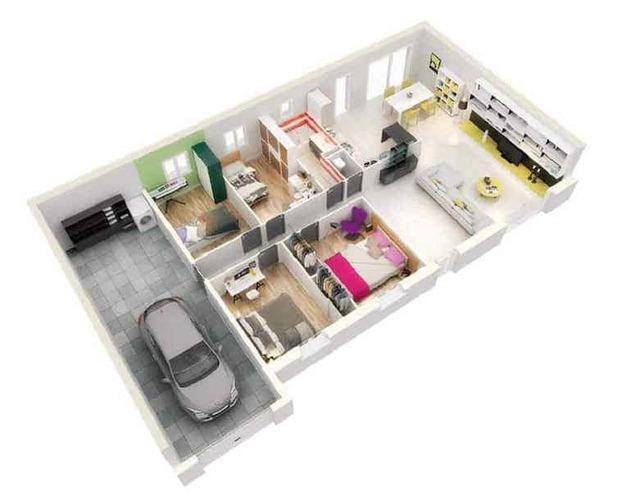 Mẫu nhà ống 1 tầng 3 phòng ngủ cho nhà đông người đang được ưa chuộng - Ảnh 9.