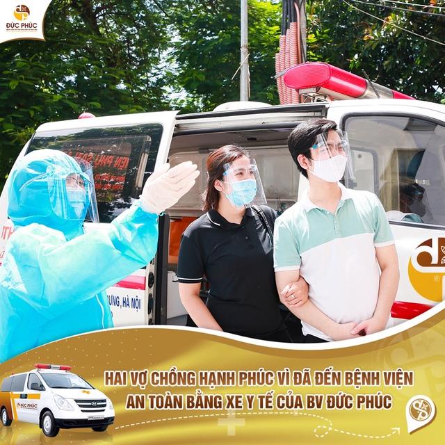 Khám và điều trị vô sinh, hiếm muộn trong thời gian giãn cách, bệnh viện Đức Phúc miễn phí đưa đón bệnh nhân bằng xe y tế chuyên dụng - Ảnh 3.