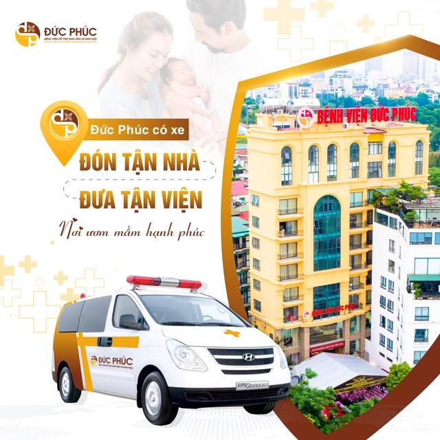 Khám và điều trị vô sinh, hiếm muộn trong thời gian giãn cách, bệnh viện Đức Phúc miễn phí đưa đón bệnh nhân bằng xe y tế chuyên dụng - Ảnh 1.