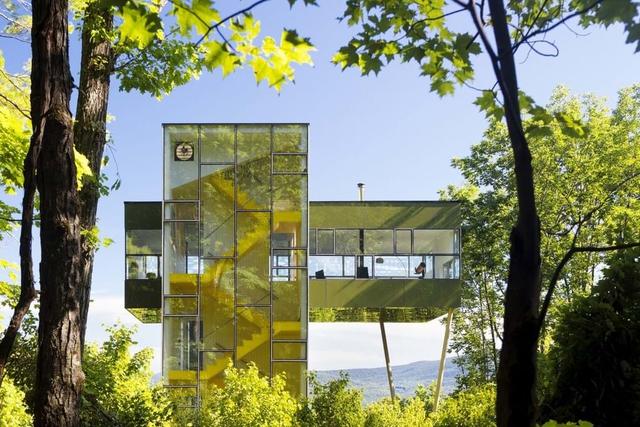 Ngôi nhà hình dấu cộng, trong suốt giữa rừng cây - Ảnh 1.