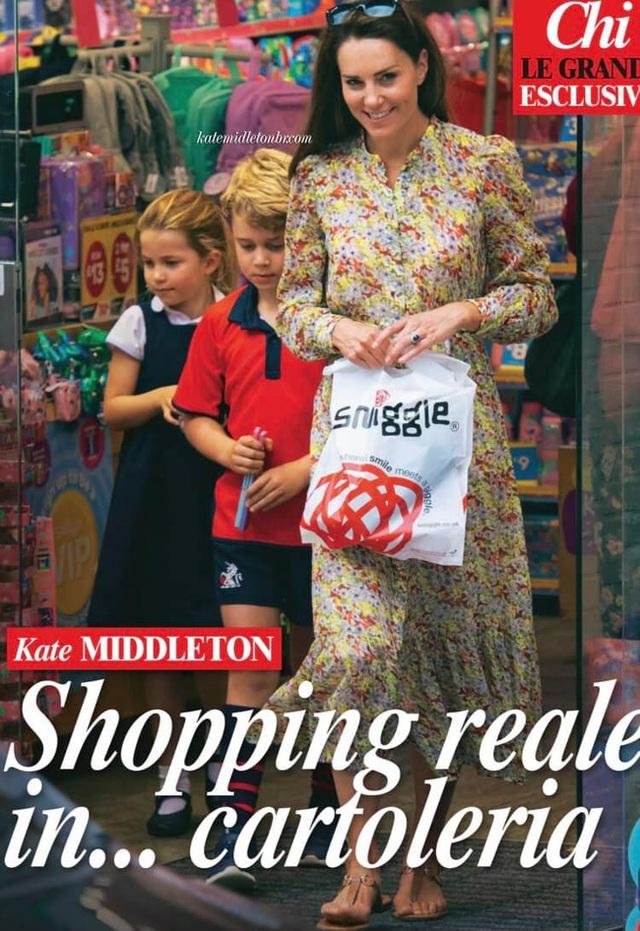 Công nương Kate lộ diện sau 60 ngày mất hút, đưa 2 con đi mua sắm với loạt cử chỉ tinh tế - Ảnh 3.