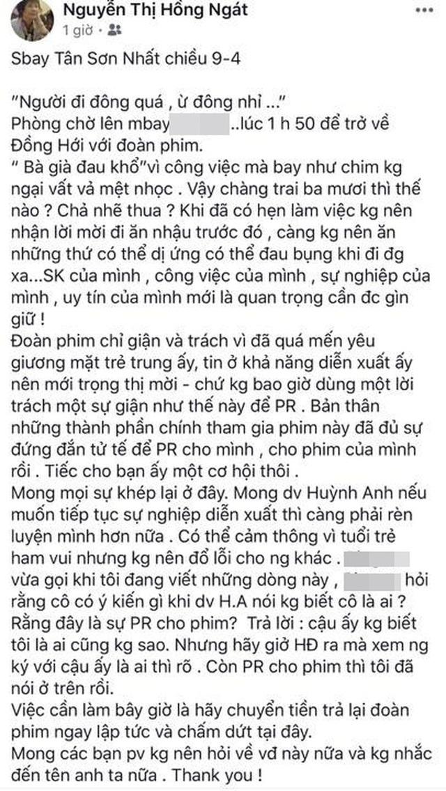 Phốt căng đét của Huỳnh Anh: Bị tố quỵt tiền bùng vai, phát ngôn đăng ảnh phản cảm và hơn thế nữa - Ảnh 13.