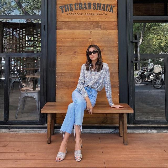 Muôn kiểu mix áo sơ mi dài tay sành điệu của mỹ nhân Việt, nàng công sở tha hồ học theo và tích lũy thêm bí quyết - Ảnh 4.