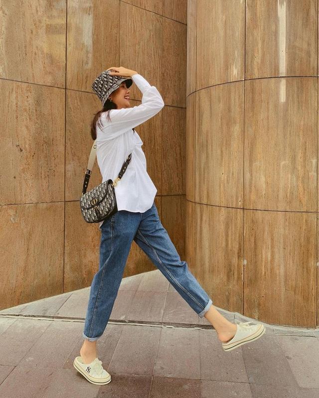 Muôn kiểu mix áo sơ mi dài tay sành điệu của mỹ nhân Việt, nàng công sở tha hồ học theo và tích lũy thêm bí quyết - Ảnh 6.