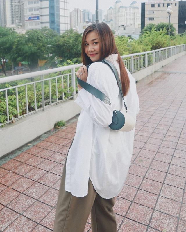 Muôn kiểu mix áo sơ mi dài tay sành điệu của mỹ nhân Việt, nàng công sở tha hồ học theo và tích lũy thêm bí quyết - Ảnh 5.