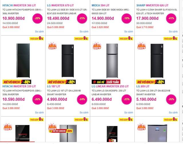Tủ lạnh giảm giá sập sàn, chưa đến 5 triệu mua được hàng ngon - Ảnh 1.