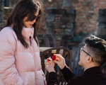 Bạn trai kém 10 tuổi cầu hôn Thu Hoài ở Mỹ