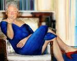 Sốc: Phát hiện bức tranh 'cựu Tổng thống Bill Clinton mặc váy hở vai, đi giày cao gót' trong biệt thự tỷ phú ấu dâm Mỹ